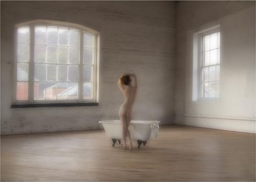 Preparing to bathe - Judith Parry