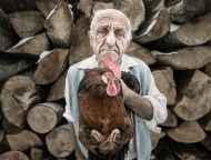 Highly Commended-Man with Chicken-Paul Hassell